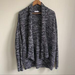 Reitmans Leather Detail Chunky Knit Cardigan